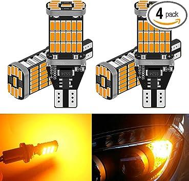 Canbus Error LED Light 194 Orange Amber Two Bulbs Front Side Marker Upgrade JDM