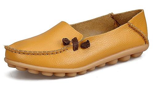 Auspicious beginning Mocasines de Cuero de Las Señoras Mocasines de Moda Mocasines Zapatos: Amazon.es: Zapatos y complementos