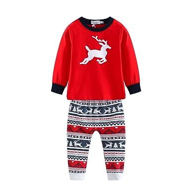 Amazon.com: BOBORA Family Matching Pajamas, Christmas Deer PJS Set ...