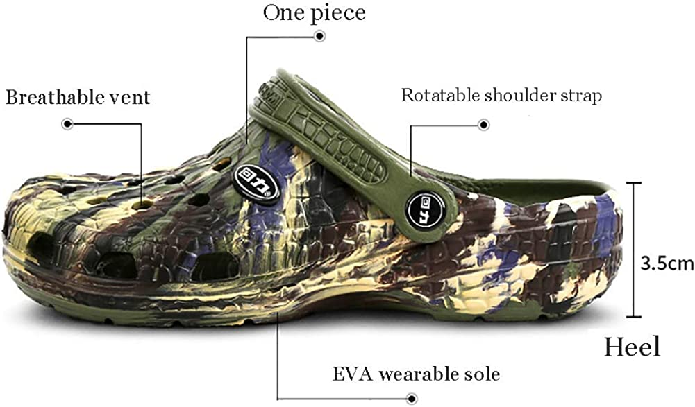KTOL Hollow Sandal Outdoor Casual Men Slippers Waterproof Non-Slip Arched Support Camouflage Design Seaside Beach Shoes