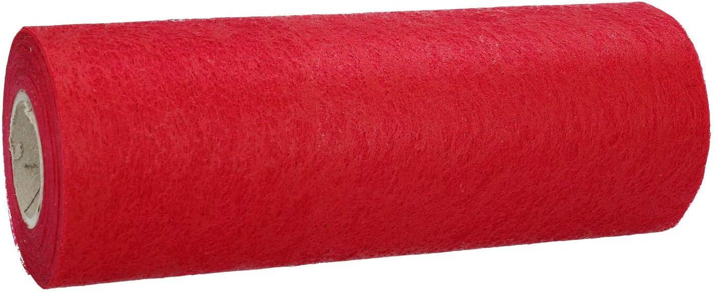AmaCasa Vlies Tischband Tischl/äufer Flower Vlies Hochzeit Kommunion 15cm//20m Rolle Pink, 15cm