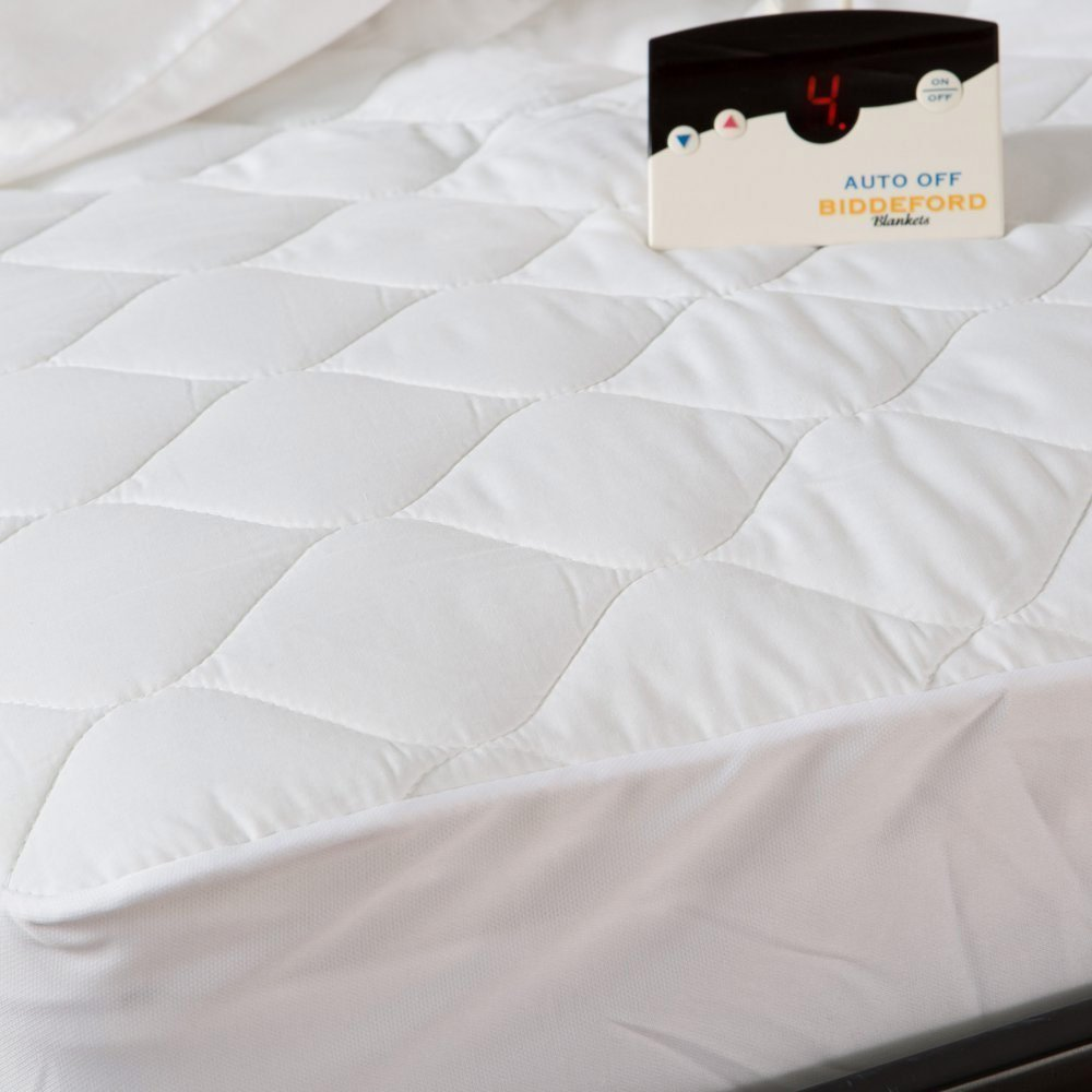 Biddeford 5201-505122-100M Quilted Electric Heated Mattress Pad Full