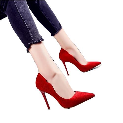 lista nueva estilo distintivo precio moderado Hyun times Tacones Altos Rojos Finos con Zapatos cómodos del ...