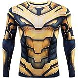 YUNYIYIS Men's Super-Hero Compression Sports Fitness Elastic T-Shirt Quick-Drying Running