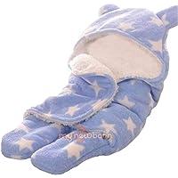My NewBorn Ultra Soft Baby Blanket Cum Swaddle Sleeping Bag Wrapper (Blue)