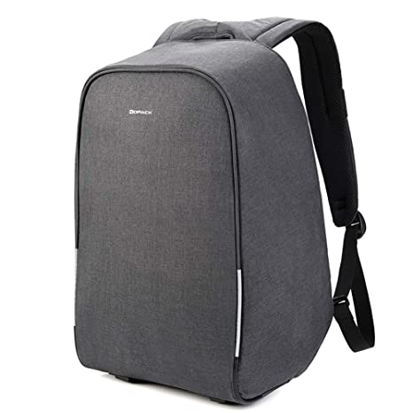 24364bcc1fa5 KOPACK Waterproof Anti Theft Laptop Backpack USB Charging Port Business  Scan Smart with Rain Cover 15.6 Inch Gray Black Kp626