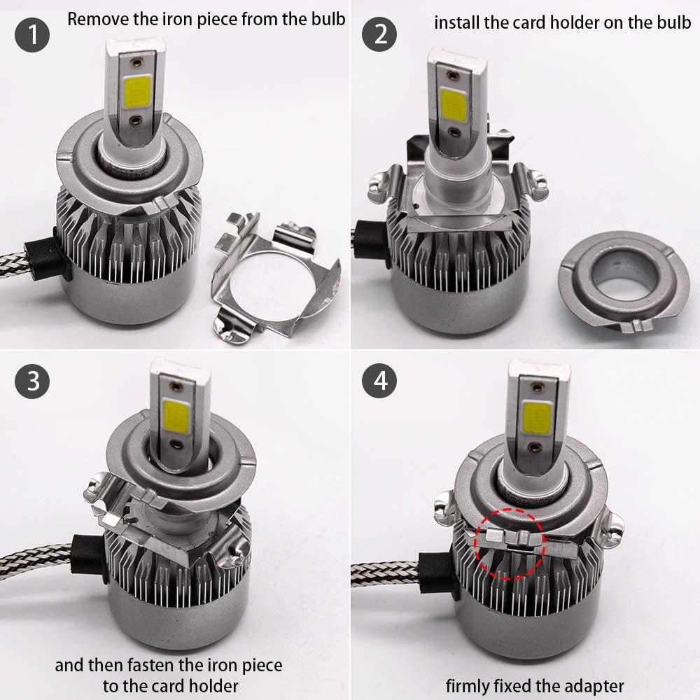 Amazon com: GZXY H7 LED Headlight Bulb Clips Holder Socket