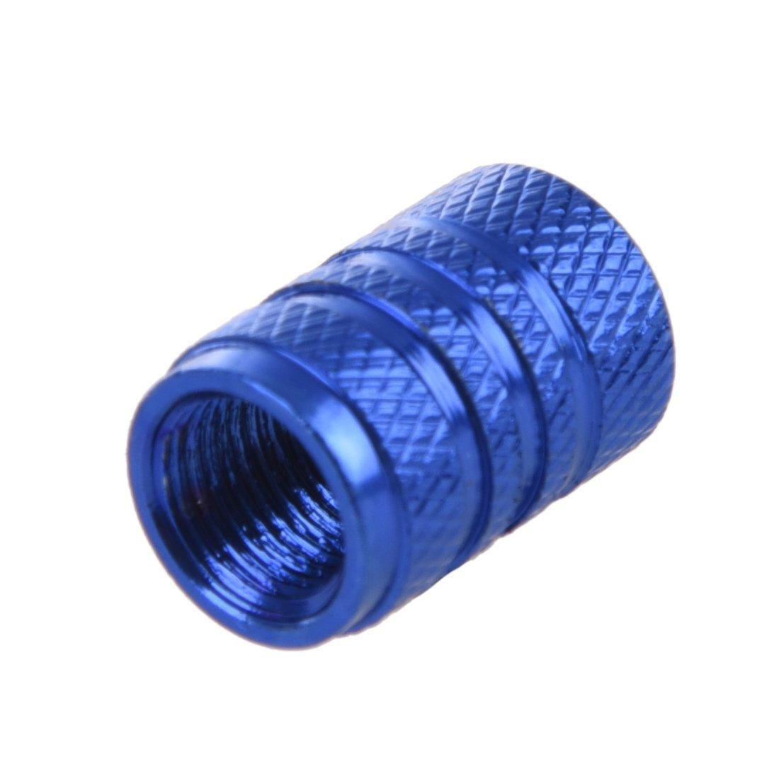 Semoic 4 Stuecke blau Legierung Auto Reifen Ventilkappen Autoventil Verschlusskappen