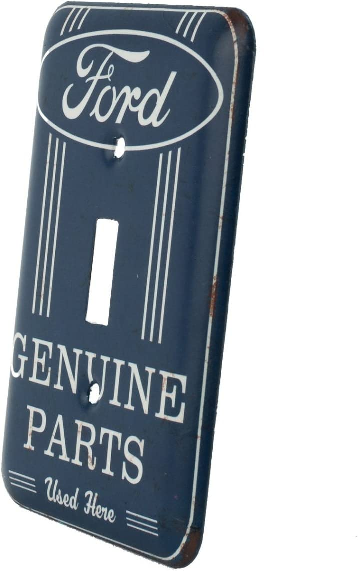 An Officially Licensed Product Great Small Gift and Addition To Add What You Love to Your Home//Garage Decor FordGenuine Parts Blue and White Light Switch cover