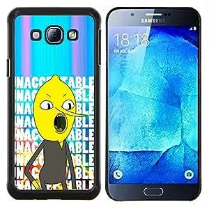 Texto Inaceptable carácter cómico- Metal de aluminio y de plástico duro Caja del teléfono - Negro - Samsung Galaxy A8 / SM-A800