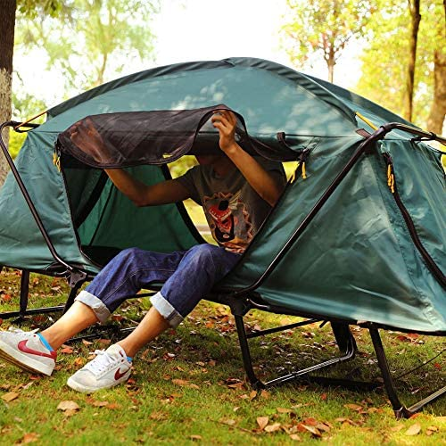 DAMAI Tienda De Campaña para Pesca 2 Personas Paño Oxford 210D Pu2000mm Evitar Los Mosquitos Y La Humedad para Acampar Senderismo Viajes Jardín Pesca Picnic