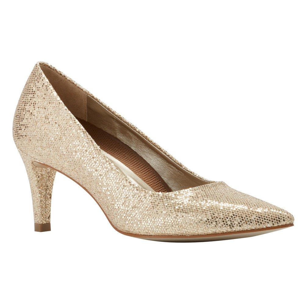 Walking Cradles Frauen Flache Sandalen Sandalen Flache Gold Sparkle Fabric 1ebc0f