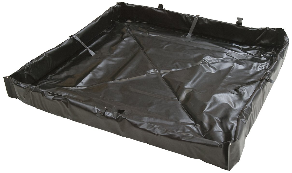 AIRE INDUSTRIAL 918-060804B Duck Pond Portable Containment, 120 Gallon Spill Capacity, 72'' Length x 96'' Width x 4'' Height, Black