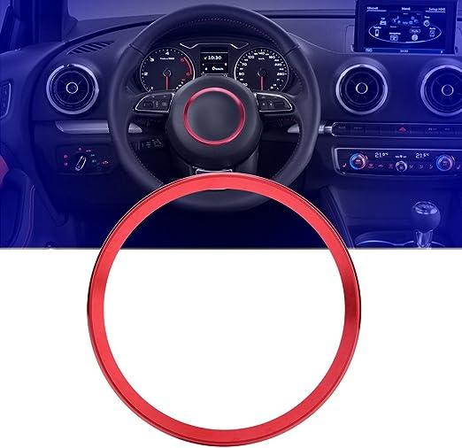 Qiilu Aluminiumlegierung Auto Lenkrad Ring Decke Füllung Auto