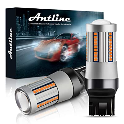 ANTLINE 7440 7444 T20 7440A 7440NA LED Bulbs Amber Yellow for Turn Signal Lights with Build-in Load Resistor CANBUS Error Free Anti Hyper Flash for Blinker Bulb Replacement (Pack of 2): Automotive [5Bkhe0114066]