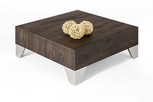 Mobili Fiver TAVEV6RBR - Tavolino da Salotto, Nobilitato, Rovere Scuro, 60x60x24 cm