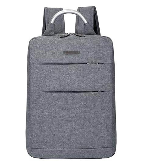 Mochila de estilo simple mochila negocio mochila bolsa de viaje gris