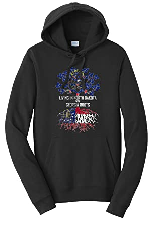 Tenacitee Girls Living in South Dakota with Georgia Roots Hooded Sweatshirt