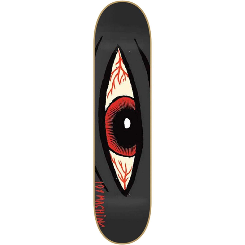 Small Skateboard Deck 8.12 Toy Machine Sect Eye Bloodshot