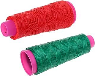 Sharplace Set de 2pcs Fil de Corde D'arc Accessoire Protection pour Corde D'arc - 110m (Rouge + Vert)