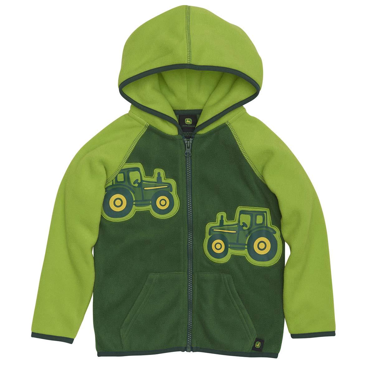 Multi-Packs John Deere Toddler Boys Micro Fleece Zip Hoodie Lime Green LP67510