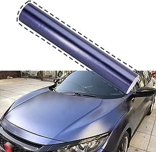 ATMOMO Matte White with Purple Self Adhesive Shiny Chameleon Car Vinyl Film Wrap Color Change Car Body Sticker Decal Sheet Film 1.52Mx30CM