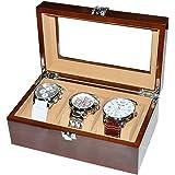 iimono117 3本収納 ウッド調 時計収納ケース ウォッチケース コレクションケース ディスプレイ