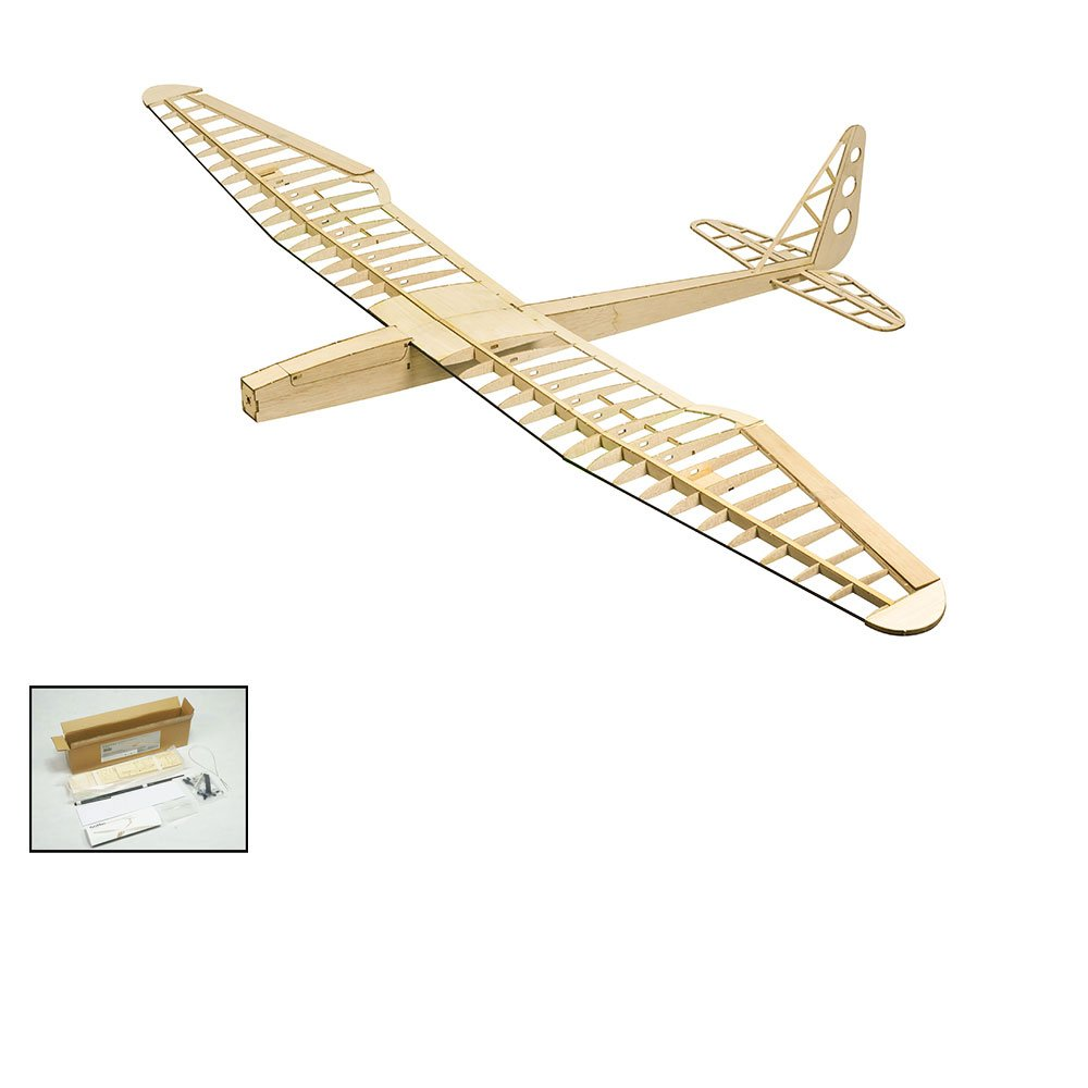 Balsa Wood Radio Remote Controlled Electric F16 Glider Sunbird Aeroplane Laser Cut Kit Wingspan 1600mm Un-Assembled for Adults;Need to Build for Flying Hobby Play (F1601)