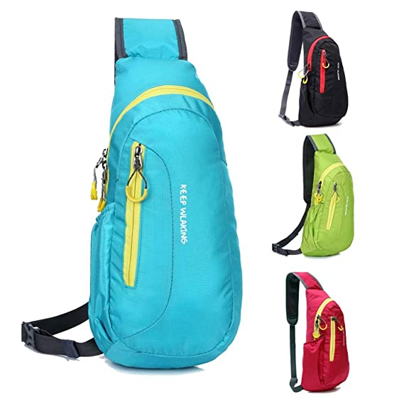 Amazon.com: Waterproof Multipurpose Camping Hiking Chest Bag Running Outdoor Diagonal Package Chest Sports Bag New Bolsa mochilas deports : Black: Sports & ...