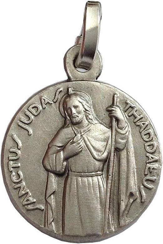 Medalla St. Jude Thaddeus apóstol plata maciza 925: Amazon.es: Joyería