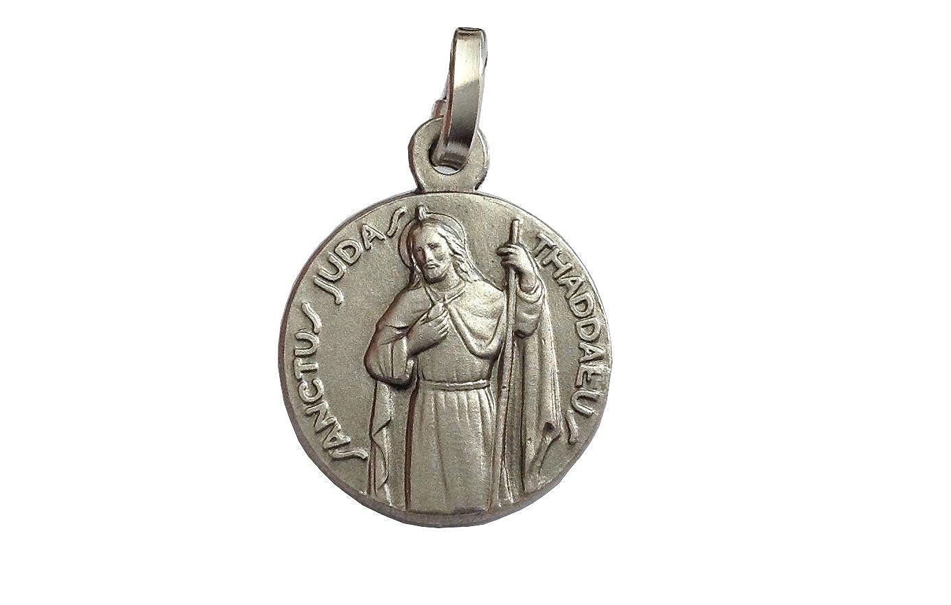 M/édaille de Saint Jude Thaddeus lAp/ôtre En Argent Massif 925