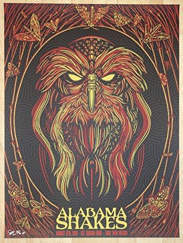 (2016 Alabama Shakes - Taos Silkscreen Concert Poster by Todd Slater)