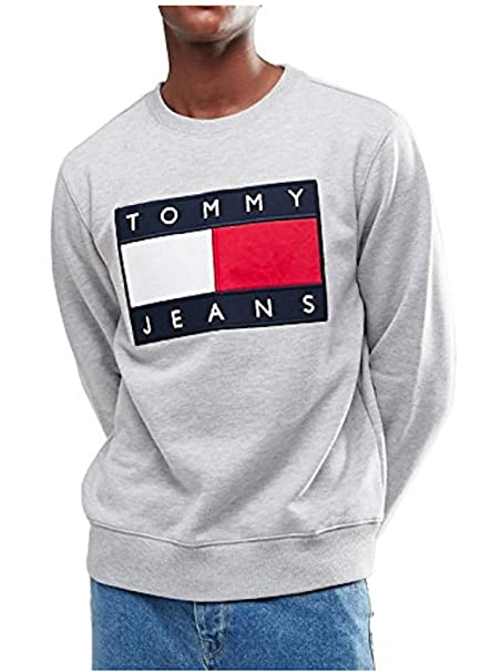 Tommy Jeans Hilfiger DenimTOMMY Jeans 90S - Sudadera - Mottled Grey: Amazon.es: Ropa y accesorios