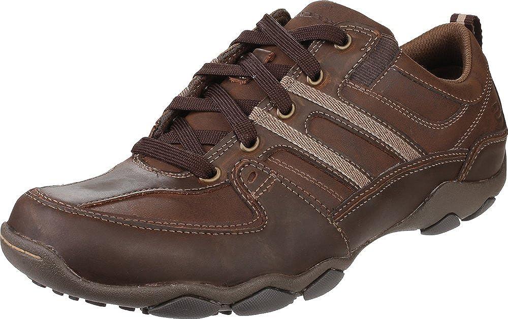 46a0ec1f4f8d Skechers Diameter Selent Lace Up Lace Mens Shoes Dark Brown 6   Amazon.co.uk  Shoes   Bags