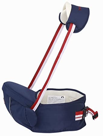 1e6eece24c5 Amazon.com   Gabesy Lightweight Baby Hip Seat Infant Carrier Waist Seat  with Sling Baby Seat Carrier for All Seasons Hip Seat Dark Blue   Baby