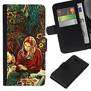 All Phone Most Case / Oferta Especial Cáscara Funda de cuero Monedero Cubierta de proteccion Caso / Wallet Case for Samsung ALPHA G850 // Colorful Woman - Oil Painting - Gogh