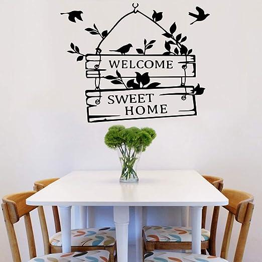 Bienvenido, dulce, puerta de casa, decoración, calcomanías ...
