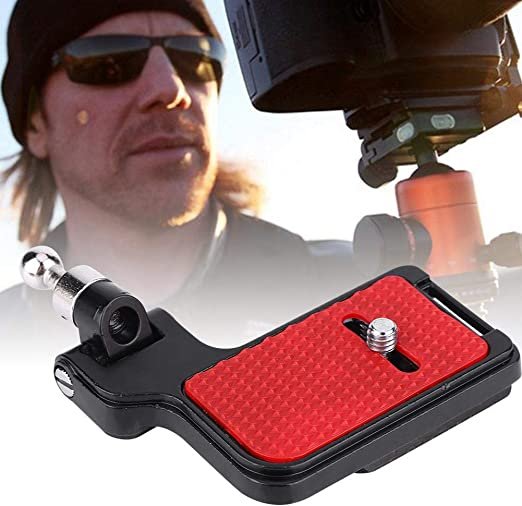 Wandisy F2 QR Camera Aluminium Alloy Bracket Quick Release Vertical Grip with Ball Head for DSLR SLR