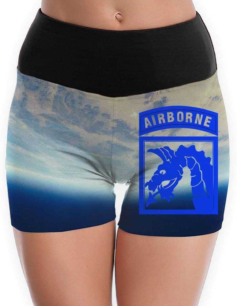 18th Airborne Corps Girls 3D Design Yoga Shorts Tummy Control Tights Workout Shorts