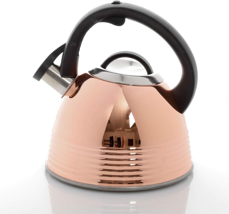 Mr. Bondfield 2.4 Quart Stainless Steel Tea Kettle, Copper