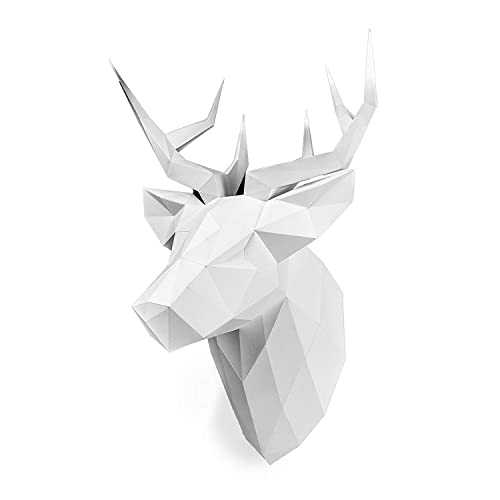 Amazon Com Paperraz White Deer Head 3d Animal Puzzle Craft Kit For