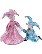 Baosity 8inch Lovely Italian Triangel Doll in Costume Decor Collectible Blue & Pink
