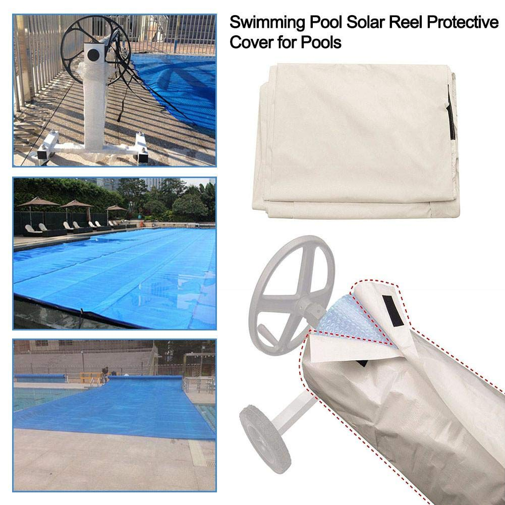 Solar Blanket Reel Protective Cover Swimming Pool Cover Waterproof Sun-Screen Cover
