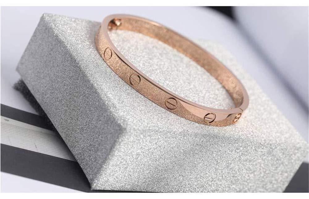BESTJEW Womens Love Bracelet Stainless Steel Cuff Bangle Bracelet with Screwdriver 6.7Inch Gold by BESTJEW (Image #4)