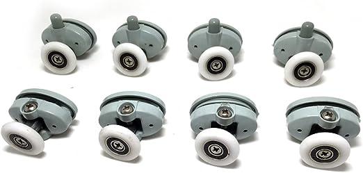 Juego de 8 ruedas para la puerta de la ducha, de 25 mm de diámetro (CY-301AB-3): Amazon.es: Hogar