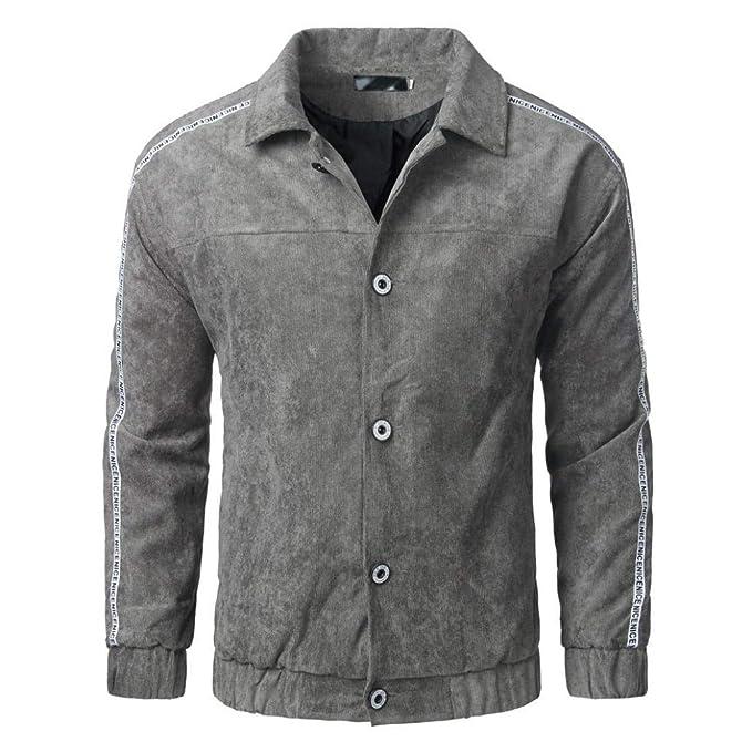 Chaqueta para Hombre De Chaqueta Invierno Moda Otoño Modernas Casual De  Bombardero Botton Outwear Manga Larga 301ccb685f6f6