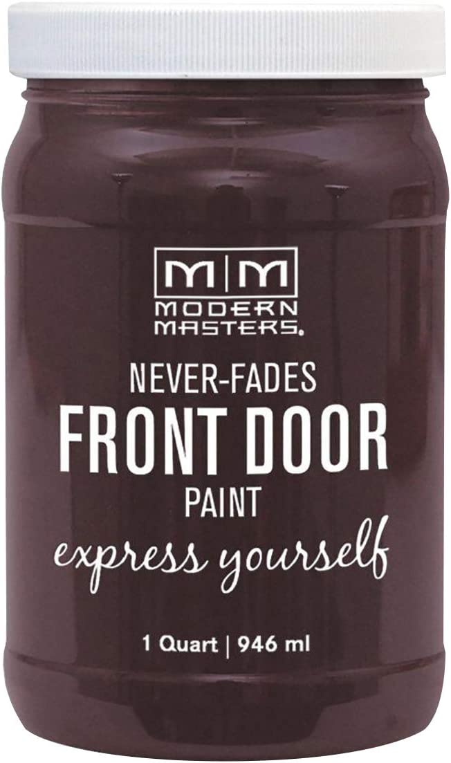 Modern Masters 275267 Front Door Paint, 1 Quart, Satin Sincere