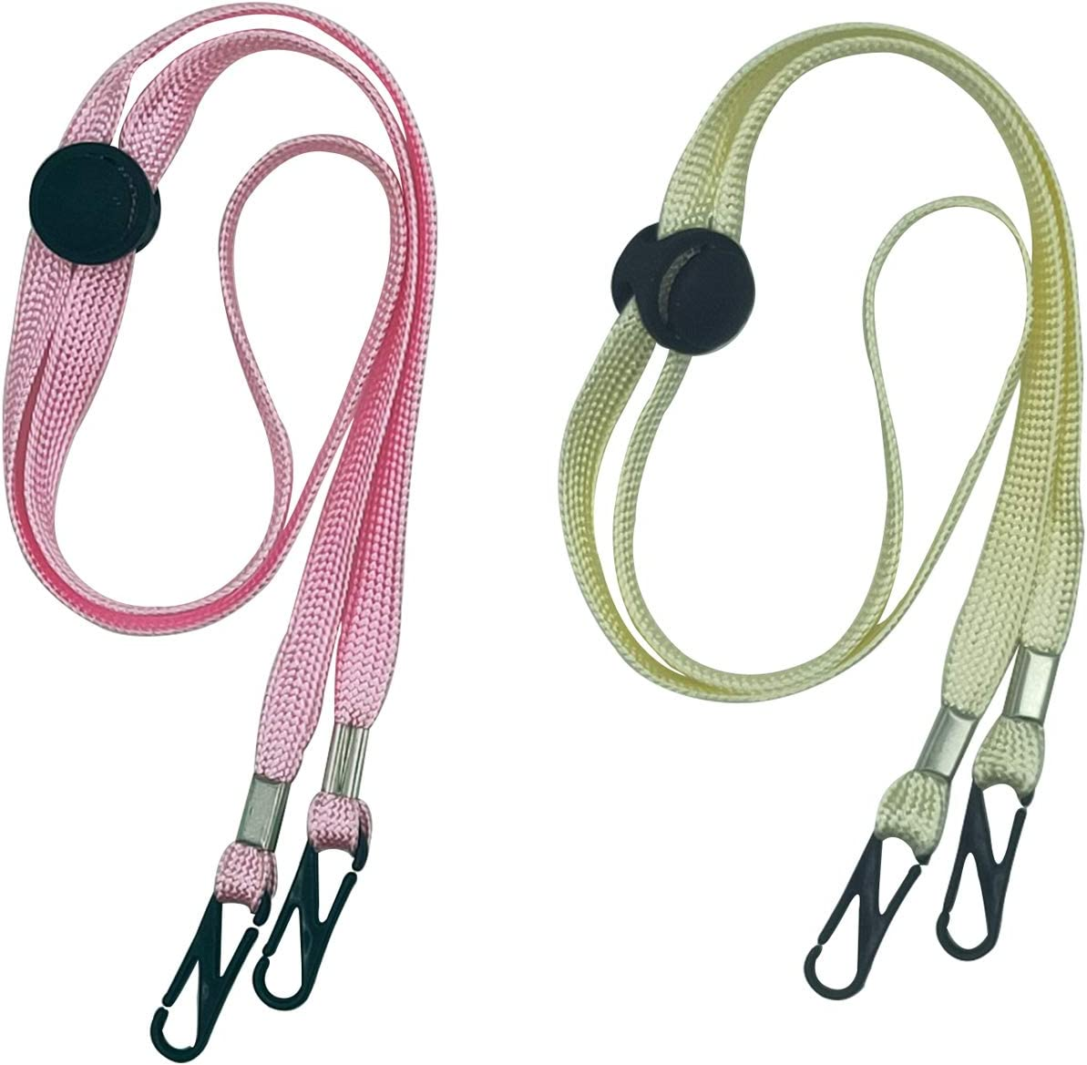 Mixed 5A+5B , styleA+B Adjustable Mask Lanyard for Face Bandanas with Clips 2 Pack Convenient Safety Mask Strap Ear Pressure Relief Lanyards for Adult and Kids