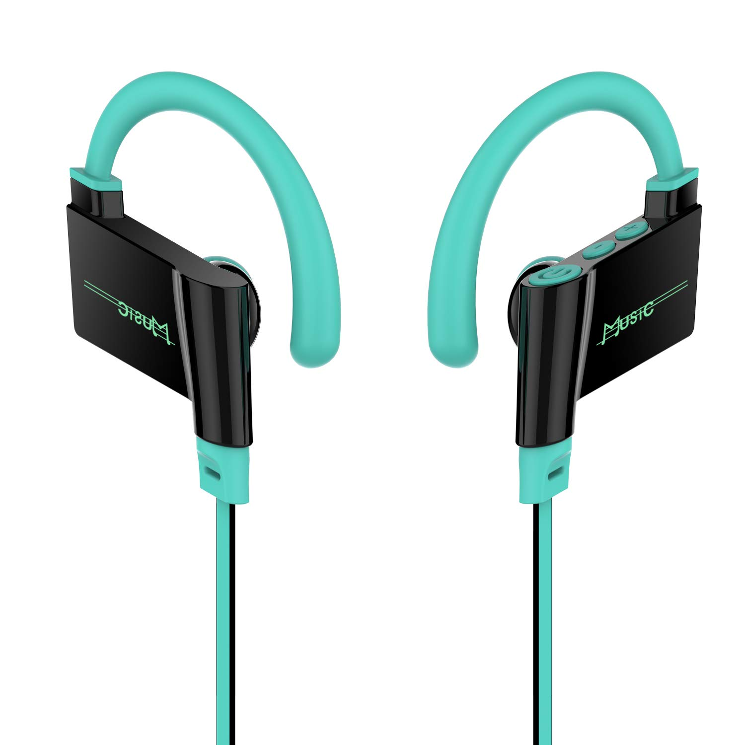 Veniveta Bluetooth Headphones, Sport Wireless Earbuds, IPX6 Sweatproof, 8 Hours Playtime, Noise Cancelling Stereo Hi-Fi Sound, Lightweight Snug Fit, with Mic, Blue