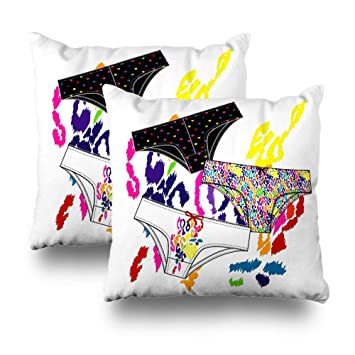 Set of 2 Decorativepillows Case Throw Pillow Covers for Couch Bed 18 x 18  inch cf8cad744